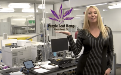 Purple Leaf Hemp with CBD Advertises Mainstream and a Female Did it First